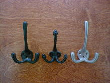 victorian cast brass and iron arts coat hook suite